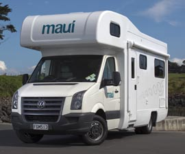 Maui Platinum Beach Motorhome rental in Australia